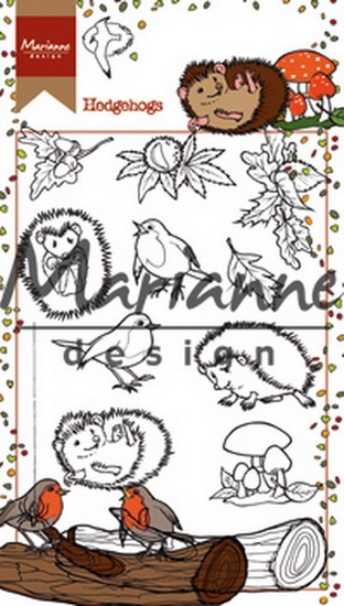 Marianne Design- Clearstempel- Hetty's Hedgehogs: HT1638
