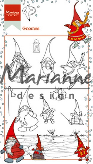 Marianne Design- Clear stempel- Hetty's Gnomes: HT1639