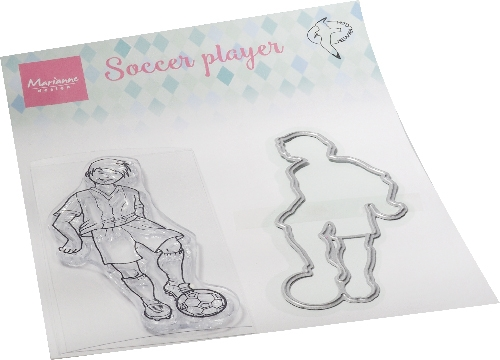 Marianne Design- Clear Stamp- Hetty's Soccer player: HT1662