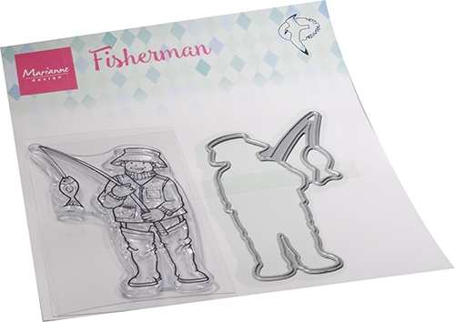 Marianne Design- Clear Stamp- Hetty's Fisherman: HT1663