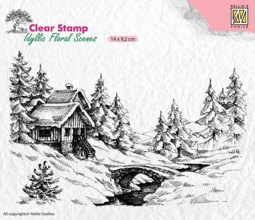 Nellie's Choice- Clearstempel- Winter Scene: IFS009