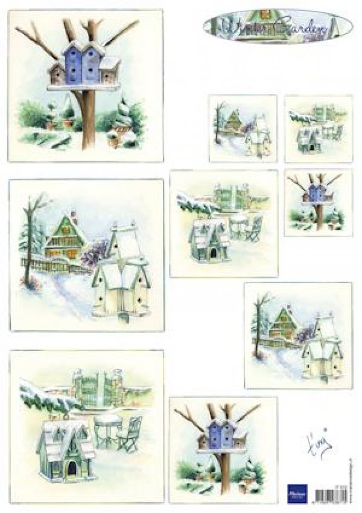 Marianne Design- knipvel Tiny`s winter garden 1: IT0572