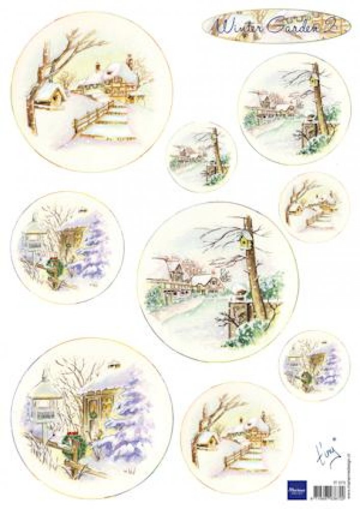 Marianne Design- knipvel Tiny`s winter garden 2: IT0573