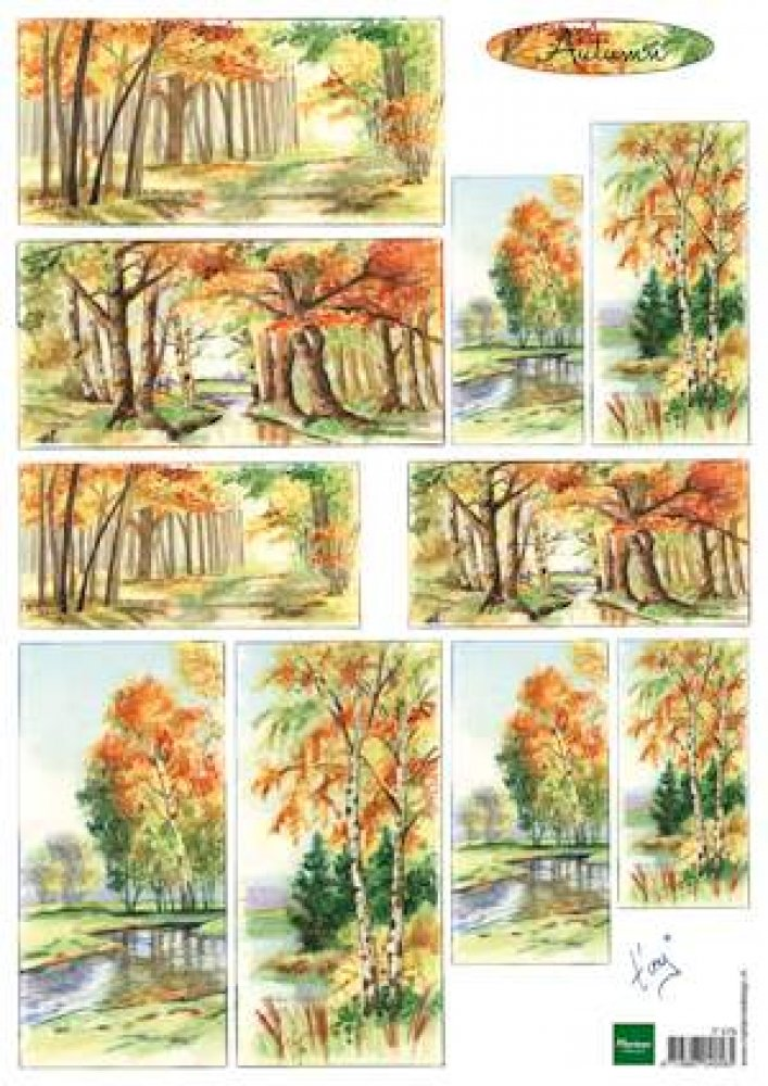 Marianne Design- A4 knipvel- Tiny`s Autumn: IT0579