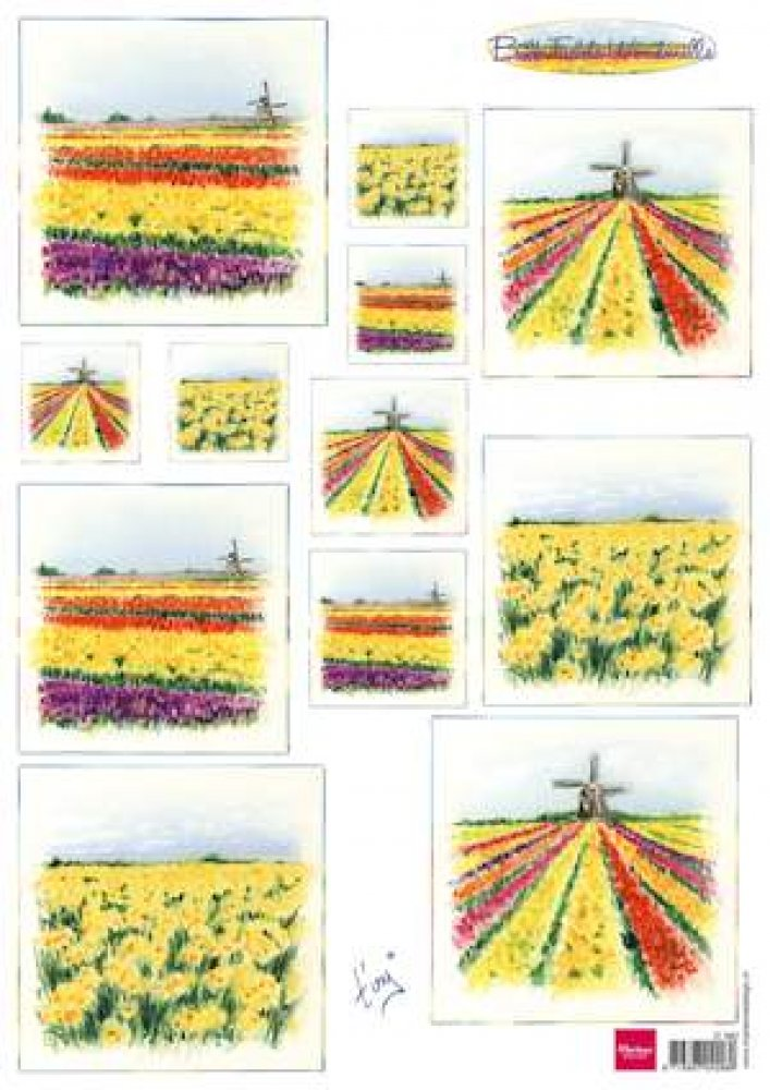 Marianne Design- Knipvel- Bulb Fields Windmills : IT0582