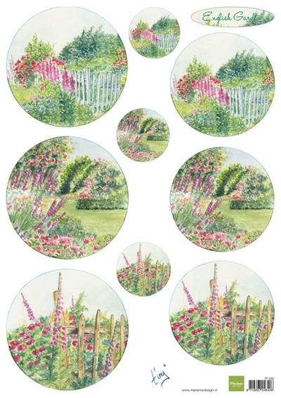 Marianne Design- Knipvel- Tiny's English Garden Roses: IT592