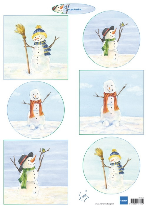 Marianne Design- Knipvel- Tiny's Snowmen: IT613