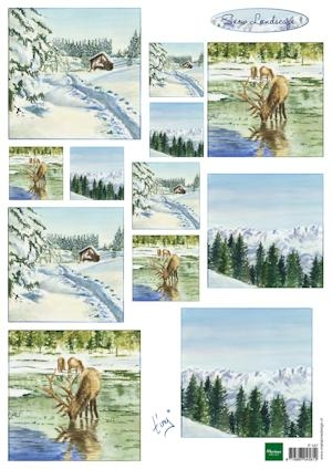 Marianne Design- 3d knipvel- Tiny's winter landscapes: IT587