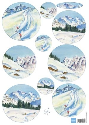 Marianne Design- 3d knipvel- Tiny's Snow Mountains: IT588