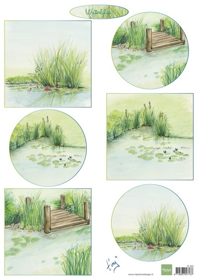 Marianne Design- Knipvel- Tiny's Waterlilies: IT593