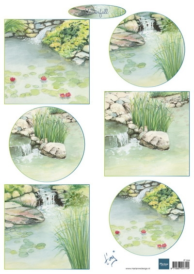Marianne Design- Knipvel- Tiny's Waterfalls: IT594