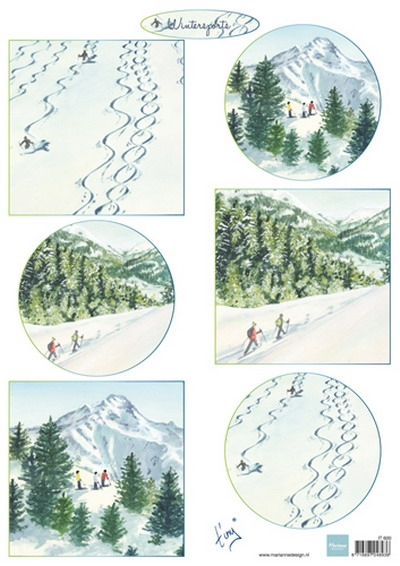 Marianne Design- 3d knipvel- Tiny's Winterlandschapjes 2: IT600