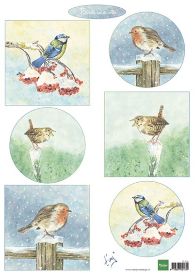 Marianne Design- Knipvel- Tiny's birds in winter: IT605