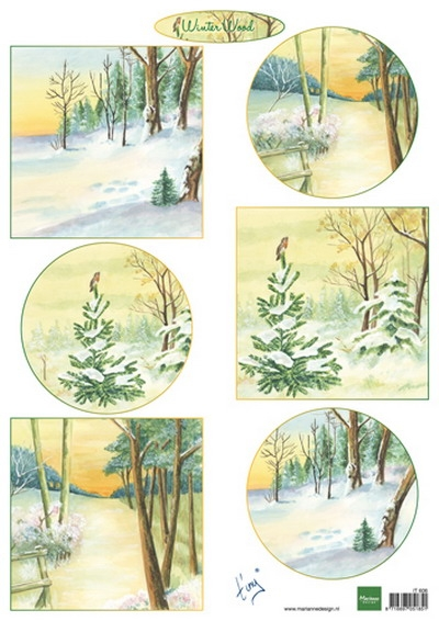 Marianne Design- Knipvel- Tiny's Winter Wood: IT606