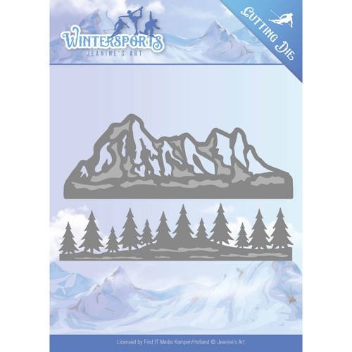 Jeanine's Art- Die- Wintersports- Mountain Border: JAD10029