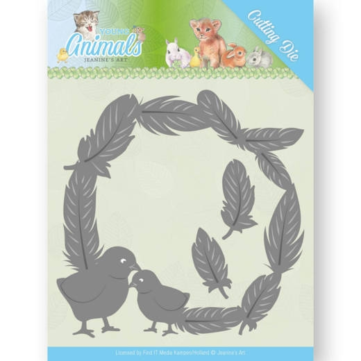Jeanine's Art- Dies- Young Animals- Feathers all Around: JAD10067