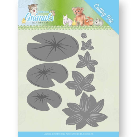 Jeanine's Art- Dies- Young Animals- Lily Pond Leaves: JAD10069