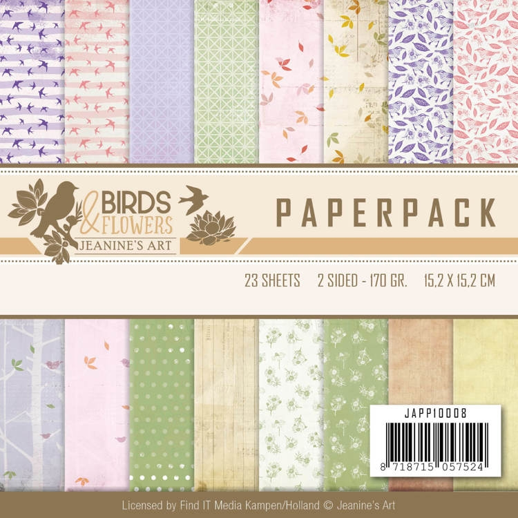 Jeanine's Art- Paperpack- Birds and Flowers: JAPP10008