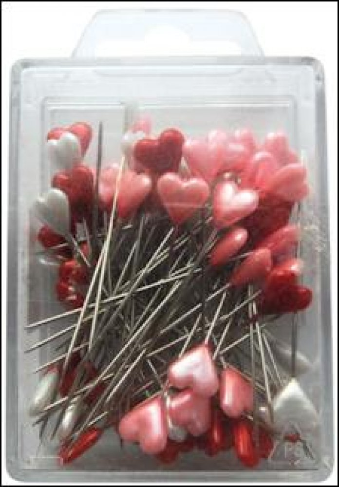 Marianne Design- Heart pins red/white/pink: JU0945