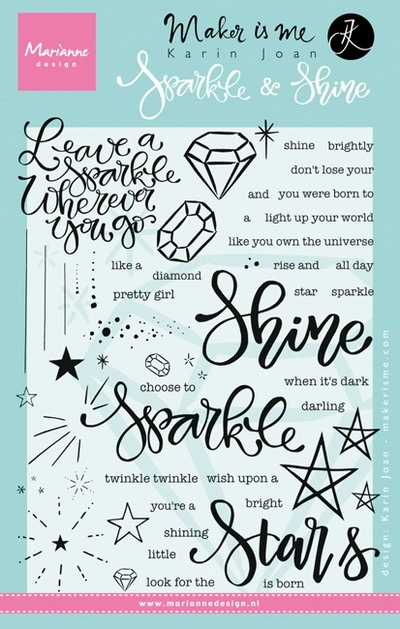 Marianne Design- Clear stamp- Sparkle and Shine: KJ1704