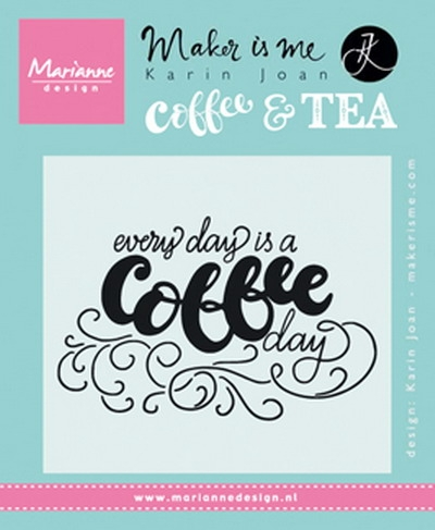 Marianne Design- Clearstempel Quote- Every day is a coffee day: KJ1708