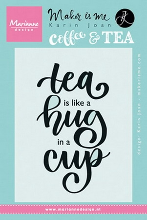 Marianne Design- Clearstempel Quote- Tea like a hug in a cup: KJ1710