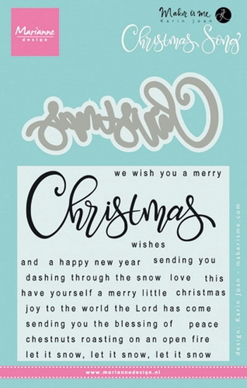Marianne Design- Clear stempel met snijmal- Christmas Song: KJ1719