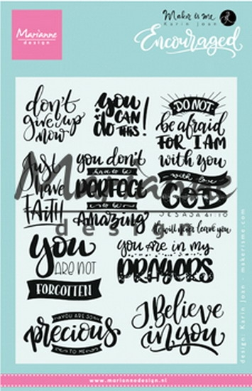 Marianne Design- Clear Stempel- Encouraged: KJ1724