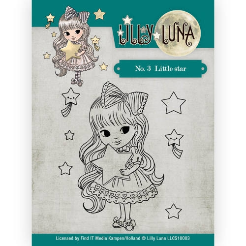 Lilly Luna- Clearstempel- 3 Little Star: LLCS10003