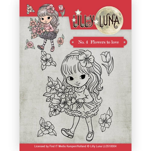 Lilly Luna- Clearstempel- 4 Flowers to Love: LLCS10004