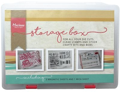 Marianne Design- Storage box incl. 3 magneet sheets en 1 stamp sheet: LR0006