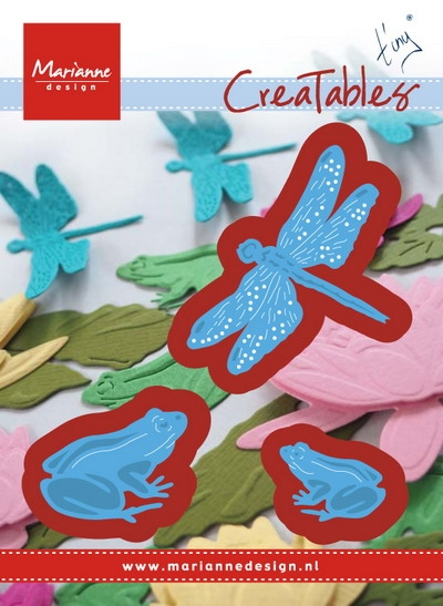 Marianne Design- Creatables- Tiny's Frogs and Dragonfly: LR0461