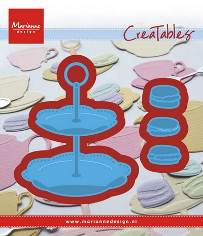 Marianne Design- Creatables- Tiered tray and macarons: LR0463