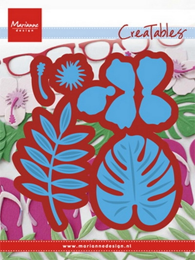 Marianne Design- Creatables- Hibiscus & Tropical leaves: LR0478