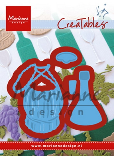 Marianne Design- Creatables- Tiny's Italian wine bottle; LR0479
