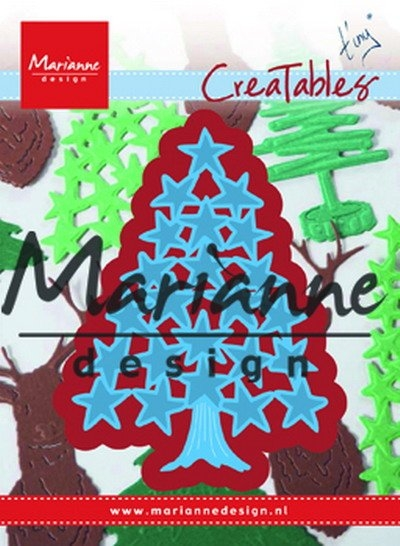 Marianne Design- Creatables- Tiny's Christmas tree with stars: LR0490