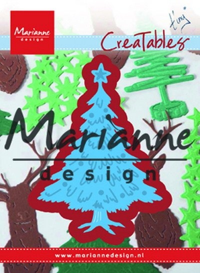 Marianne Design- Creatables- Tiny's Christmas tree decorated: LR0491
