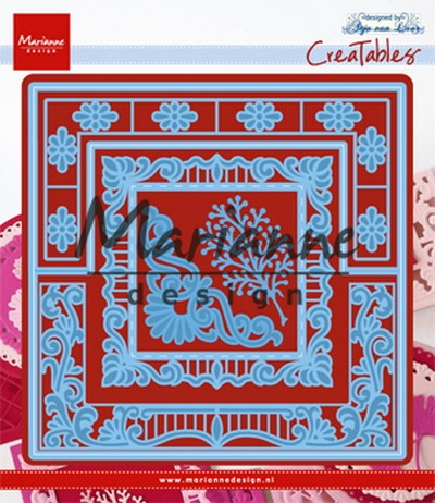 Marianne Design- Creatables- Anja's lacy folding die square: LR0553
