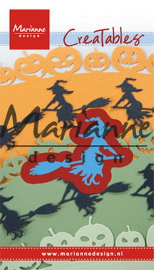 Marianne Design- Creatables- Witch on broomstick: LR0561