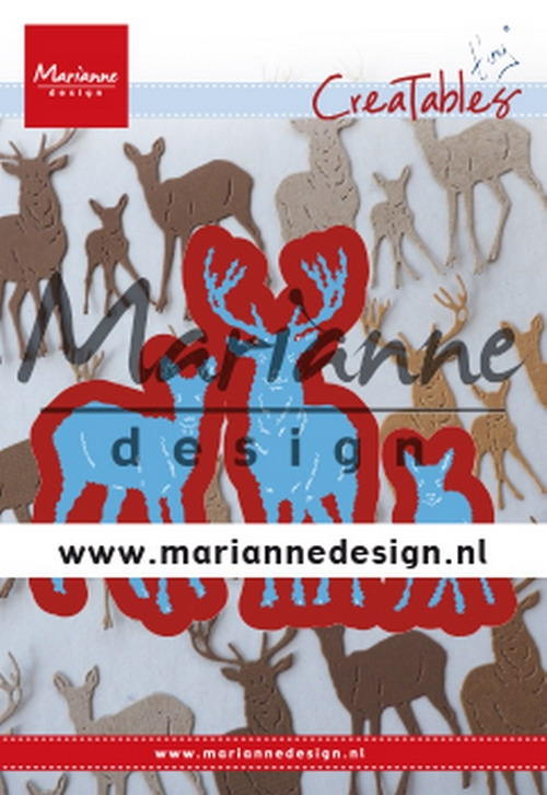 Marianne Design- Creatables- Tiny's deer family: LR0615