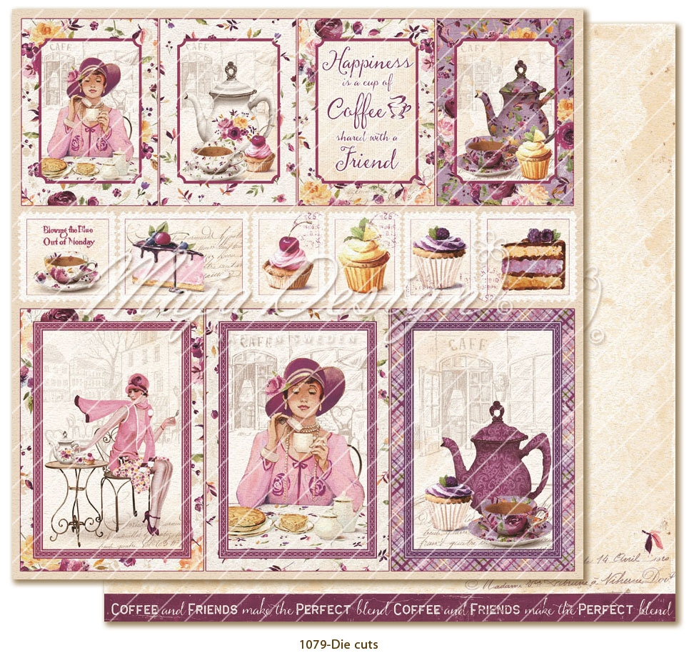 Maja Design- Little street cafe- Die cuts: M1079