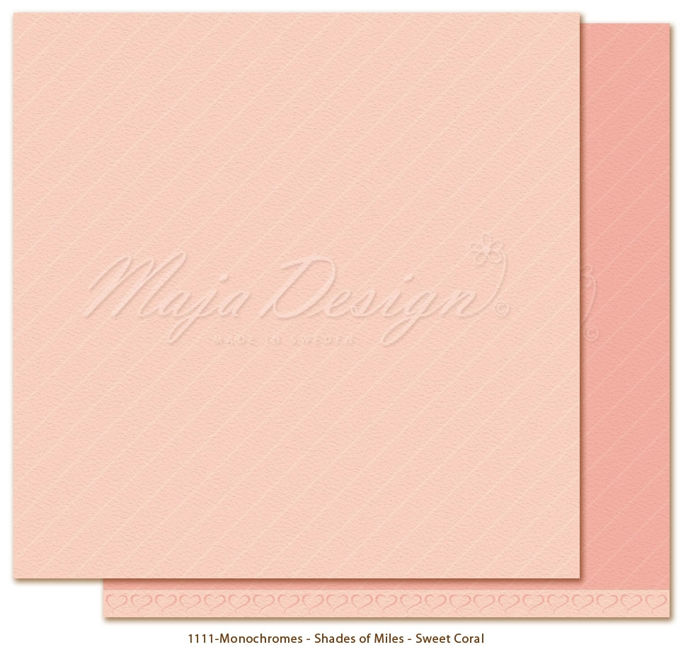 Maja Design- Monochromes-  Shades of Miles- Sweet Coral: M1111
