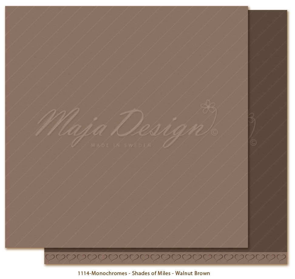 Maja Design- Monochromes-  Shades of Miles- Walnut Brown: M1114