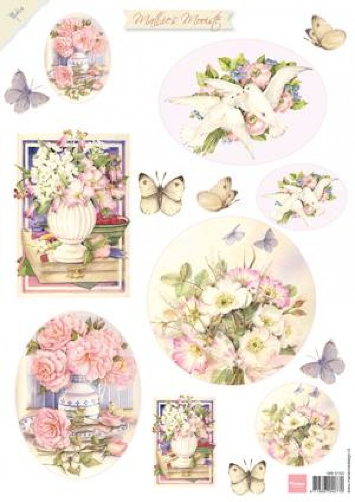 Marianne design- A4 knipvel- Mattie`s mooiste Summerflowers 2: MB0153