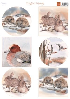 Marianne Design- 3d knipvel- Mattie's winter animals- Hedgehogs: MB0163