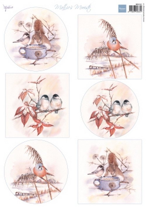 Marianne Design- Knipvel- Mattie's mooiste winter birds: MB0181