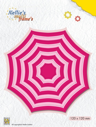 Nellie's Choice- Multi Frame Dies- Octagon/ Spiderweb: MFD114