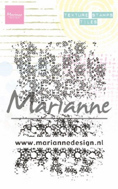 Marianne Design- Clearstempel- Texture Stamp Tiles: MM1629