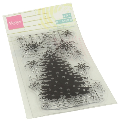 Marianne Design-Clear Stempel- Art Stamps Christmas Tree : MM1634