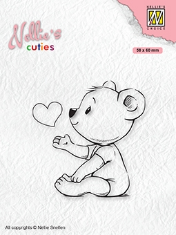 Nellie's Choice- Clearstempel- Cutties- Love you mama: NCCS009